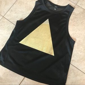 Forever 21 triangle mesh jersey tank top